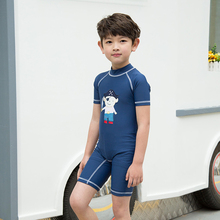 Cute Cartoon Boys Swimming Clothes Kids UV Swimwear One Pieces Surfing Suit 2017 Summer Children's Swimsuits Quick-drying 2-9Y