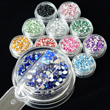 1 box 600pcs 3D Acrylic Mixed Nail Rhinestones 2mm Crystal Glitter Nail Art Decorations for Gel Polish DIY Beauty Tips CH01-12