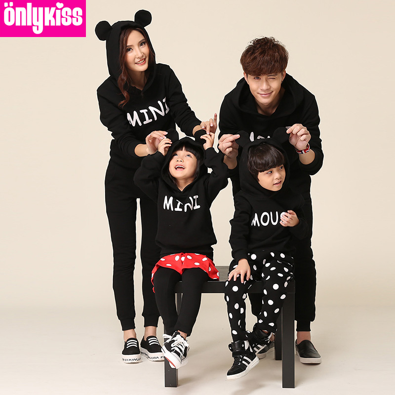 Matching Family Clothing Sport Sets 2015 Autumn Winter Family Look Matching Mother Daughter Father Son Long Sleeve Sweater Set<br><br>Aliexpress