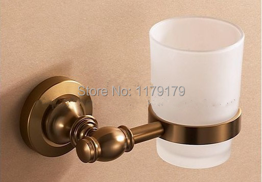free shipping Europen Brush   Antique Brass  Aluminium alloy    bathroom cup , double  toothbrush holder   TC2120<br>