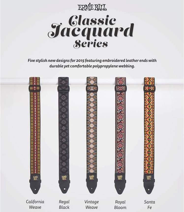Ernie Ball Classic Jacquard Series Handcrafted Embroidered Leather End Guitar Strap<br>