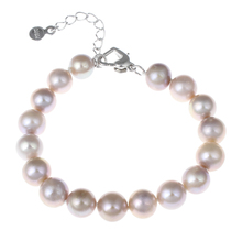 "Freshwater Cultured Pearl Bracelet High Grade Jewelry Natural Pearl Purple 8-9mm 7"" Strands Bracelets Bangles Wedding Jewelry"