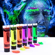 Professional 6 Colors Festival Body Art Paint 10ml UV Glow Face Body Paints Fashion Makeup Fancy Body Painting 26502(China)