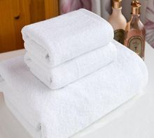 Free Shipping 1piece 80cm x 160cm 800g White Thick Traveling Family Cotton Bath Towel Hotel Amenities Wholesale(China)