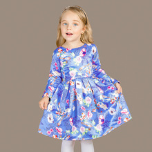 bay girls dress autumn long  sleeve princess dresses Europe style children's clothing 3-12 years olds  D3109