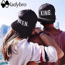 Ladybro Lovers Letter Hip Hop Cap Women Men Hat Cap King. Queen. Cap Male Female Snapback Street Bone Brand Black Baseball Cap(China)