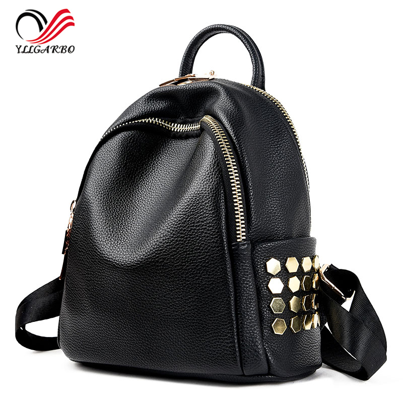 2017 New Brand Fashion Women PU Leather Backpack Waterproof Ladies Cute Small School Backpacks For Girls Black Simple Style Bag<br><br>Aliexpress