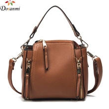 DORANMI Fashion Office Lady Tote Bag 2017 Luxury Brand Designed Zipper Decorated Women Bags PU Leather High Quality Bag STB038(China)