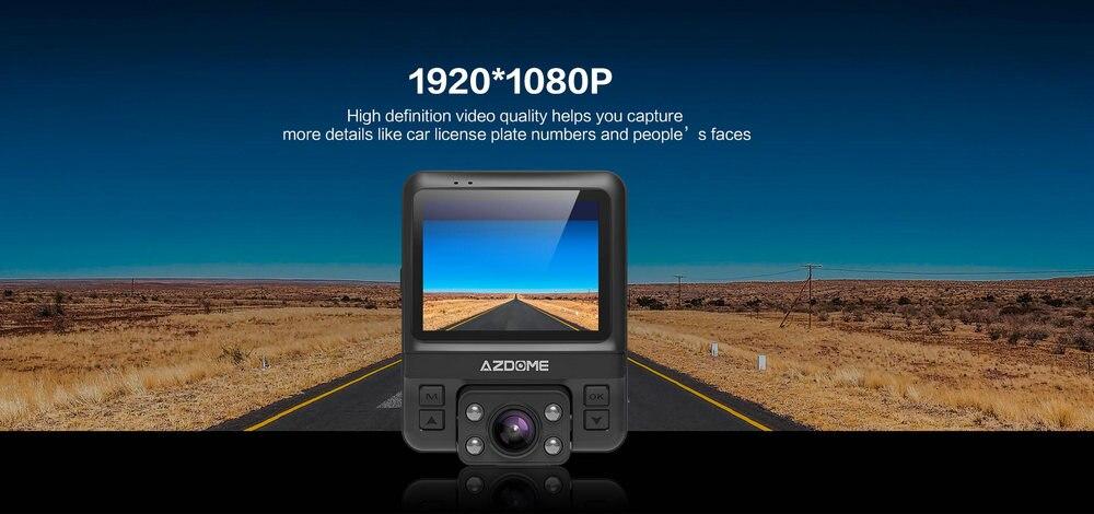 Azdome GS65H Mini Dual Lens Car DVR Camera 1080P Full HD Dash Cam Novatek 96655 Video Recorder G-sensor Night Vision 8