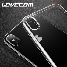 Buy LOVECOM Transparent Soft TPU Phone Case iPhone X Silicone 1.5MM Cases iPhoneX Back Cover Crystal Clear Gel Skin for $1.30 in AliExpress store
