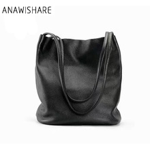 ANAWISHARE Women Leather Shoulder Bags Bucket Handbags Large Ladies Totes Bags Designer Handbags Bolsas Femininas Bolsos Mujer
