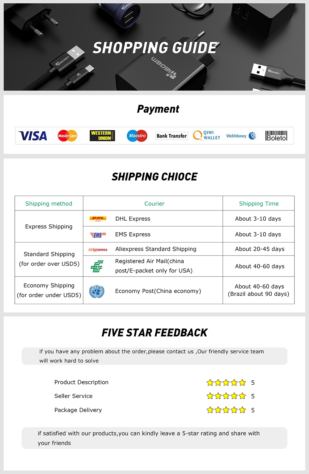 TIEGEM Micro USB Cable 2.5A Nylon Fast Charge USB Data Cable for Samsung Xiaomi LG Tablet Android Mobile Phone USB Charging Cord