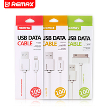Remax USB To Micro USB To USB Mobile Phone Cable Data Cable Fast Charge Cable For iPhone 4 4S 5 5S For Android Phone(China)