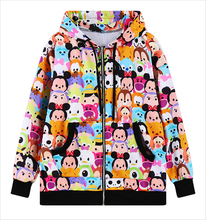 2016 Harajuku kawaii Mickey women Sweatshirt Hipsters cartoon TSUM printed sports hoodies women anime zipper Pocket Tracksuit