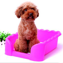 Pet Dog Toilet Training Tray Puppy  Type Flat Accessories Pet Toile Litter Box Dog ToiLetcleaning supplies Fence Resin QQM869