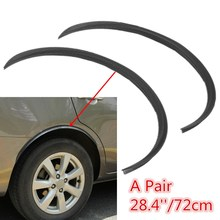 2Pcs/pair Universal Black Car Carbon Fiber Large Round Arc Strip Protector Wheel Eyebrow Decal Sticker Fender - Awesome For You Store store
