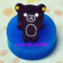 QYL126 Chocolate Bear Cookie Silicone Push Mold Kitsch Jewelry Charms Dollhouse Jewelry Bead Mold (Resin Gum Paste Fondant)