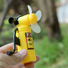 Cartoon Fire Extinguisher Shape Design Portable Handheld Fun Cooling Fan Toy Children Students Cooler Education Gift For Kid(China)