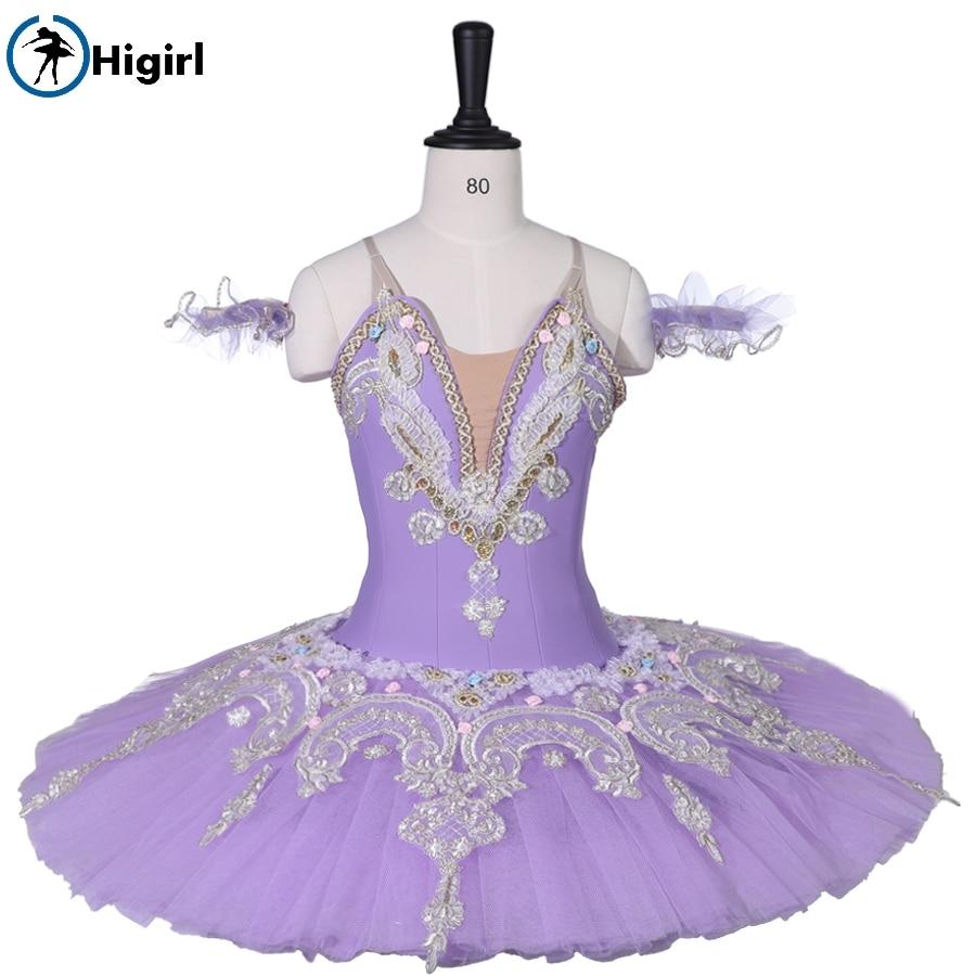 Child Lilac Sleeping Beauty Professional Ballet Tutu for Women Adult Performance Platter Ballet Stage Costume BT9059C