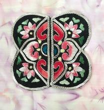 Цветок любви handsewing сучжоу вышивка двойной бортовой bordados parches para la ropa для одежды мешок ожерелье diy(China)