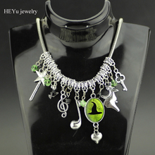 Buy Wicked Musical Charm Necklace Key Crystal Beads Metal Pendant Jewelry Snake Chain Lobster Clasp Necklace Women Gift for $3.50 in AliExpress store