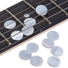 12pcs Round White Pearl Shell Fretboard Fingerboard Position Marker Inlay Dots 12mm Diameter 1mm Thickness for Violin Guitar(China)