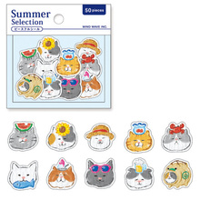 30pcs/pack And 50pcs/pack Summer Collection Series Decorative Laminated Bags Stickers Cartoon DIY Hand Diary Account Stickers