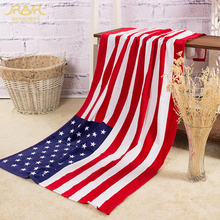 ROMORUS 2017 Fashion 70*140cm American Flag 100% Cotton Absorbent Beach Towel Hot Dollar Printed Soft Bath Towels Free Shipping