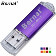 Bernal high speed USB FLASH DRIVE Disk Metal usb flash Memory stick USB PenDrive 64GB 32GB 16GB 128GB usb flash drives pen Drive(China)