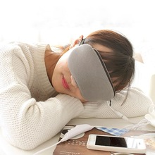Grinigh Comfortable USB Heated Sleep Mask with Hot Steam Eye SPA Gray Warm Blindfold Eye Mask For Travel or Rest