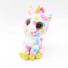 "Ty Beanie Boos Big Eyes 6"" Beautiful Multicolor Spot Unicorn Plush Animal Toys"