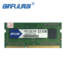 Binful Original New Brand Free shipping DDR3 1600mhz 2GB PC3-8500S 204-Pin Laptop Notebook Memory RAM stock