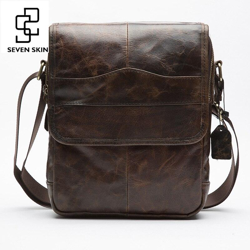 Top Genuine Cowhide Leather High Capacity Design Crossbody Shoulder Bag Men Messenger Bag Men Small Bag High Quality Leisure Bag<br>
