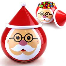 Christmas Santa Claus Candy Jar Xmas Gift Toys Christmas Decorations for Home Natal Window Closet Decorations New Year Supplies