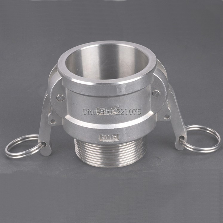 Free shipping SS304 Stainless Steel CAM LOCK CAMLOCK TYPE B Groove Coupler Female to 3 NPT Male<br><br>Aliexpress