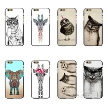 Super Sale New Arrive Personality Fantasy Animal Series Pictures Promotion Painted Back Cover Case for Apple iPhone 6 6S(China)