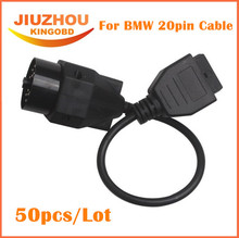 50Pcs DHL Free shipping 2016 OBD1 20pin to OBD2 16pin cable for B-M-W diagnostic interface 20 pin extension cord(China)