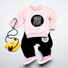 New Summer Fashion children full trend clothing High Five sets boys cartoon T-shirt pants Casual suit baby kids clothes