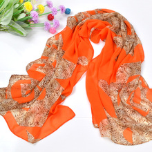 Female spring and autumn multicolour leopard skull print scarf cape silk scarf muffler scarf ultra long ultralarge