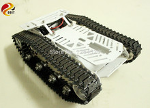Full RC Metal Tank Car Chassis All-metal Structure Crawler Big Size Load Large Obstacle-surmounting Tank Chassis Tracked Vehicle