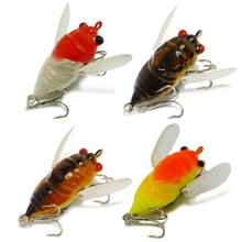 4Pcs Fishing Lures Crankbaits Locust Insects 5cm/1.97in 6.6g/0.23oz Artificial Bait Free Fisher