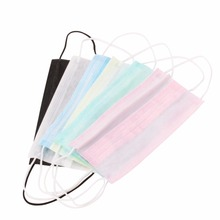 50Pcs Elastic Ear Loop Disposable Medical Dustproof Surgical Face Mouth Masks New 3-Ply