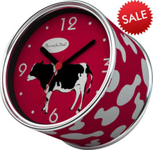 2014 New DIY Red Cow Design Magnetic Cheap Wall Clocks,Cheap Desk Clocks,Cheap Table Function Clocks in Free Shipping