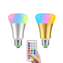 LED Bulbs Lamp 220V 110V E2710W RGBW (RGB+White) RGBWW (RGB+Warm white) Dimmer Timer Controller Muticolor Changing Decor Lights