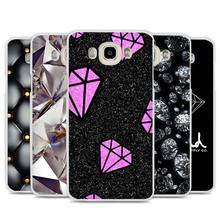 Black Diamond Design Cell Phone Case Cover for Samsung Galaxy J1 J2 J3 J5 J7 C5 C7 C9 E5 E7 2016 2017 Prime