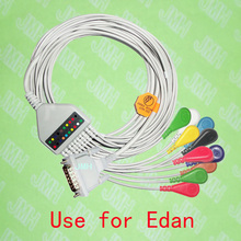 Compatible with 15PIN EDAN EKG Machine the One-piece 10 lead ECG cable and Snap leadwires,IEC or AHA.