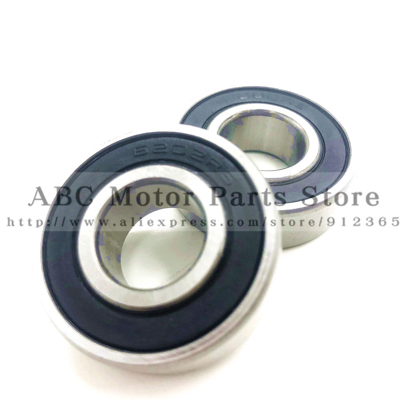 2Pcs 6202-2RS 15mm Axle Rubber Sealed Ball Bearings 6202 RS Fits Pit Dirt Bike