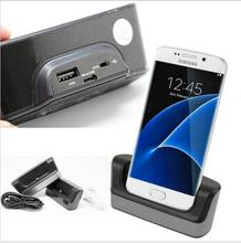 Dual Destop Micro USB Dock Station Charger Charging Data Sync Cradle Docking Stand + OTG Switch + Cable For Samsung S7 S7 Edge