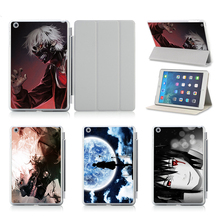 Customized Flip Smart Case For Apple iPad 5 6 iPad Air Case Stand Tablet Designer Leather Cover Naruto BLEACH Tokyo Ghoul Anime