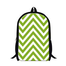 personalized Reversible Green Chevron print backpack for girls,zigzag lightweight pink backpacking,star backpacks back to school